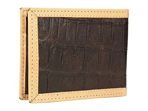 Estampado Cartera Bifold Ariat Marrón Croc 0gxz5wq