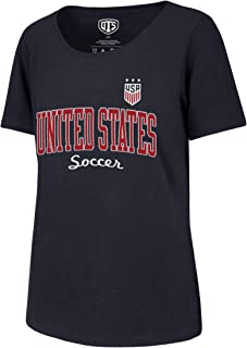 OTS World Cup Soccer Womens U.S. Soccer National Team Women's Slub Scoop Tee