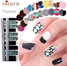 HIGH'S EXTRE ADHESION 20pcs Nail Art Transfer Decals Sticker Pattern Series The Cocktail Collection Manicure DIY Nail Polish Strips Wraps for Wedding,Party,Shopping,Travelling (Pool)