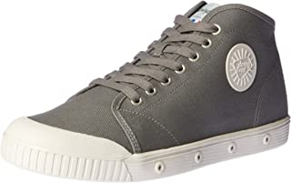 Spring Court Women's Canvas Trainers, Grey