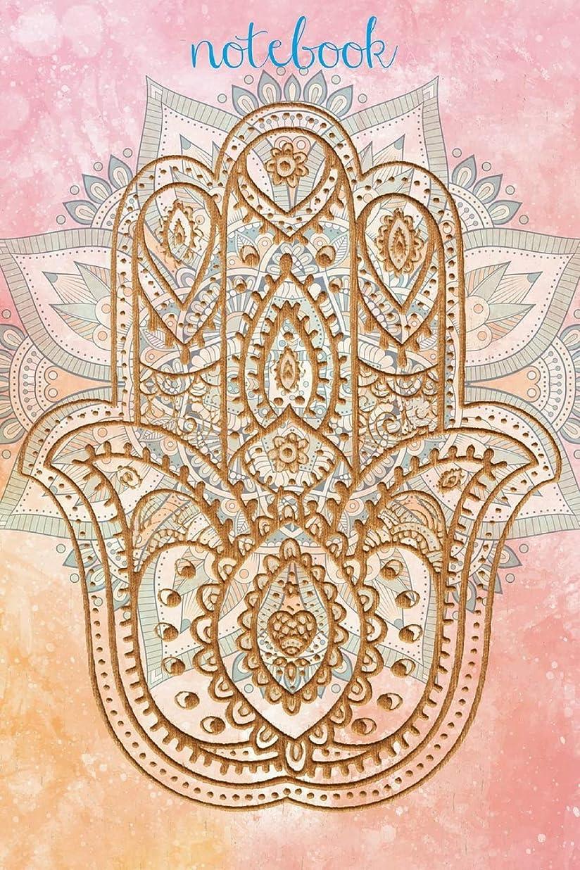 ベスト物理的に恥Notebook: Yoga Hamsa Hand Homework Book Notepad Notebook Composition and Journal Diary