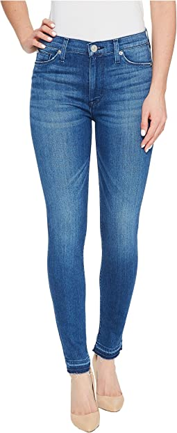 Barbara High Waist Super Skinny Ankle Five-Pocket Jeans in Blue Riot