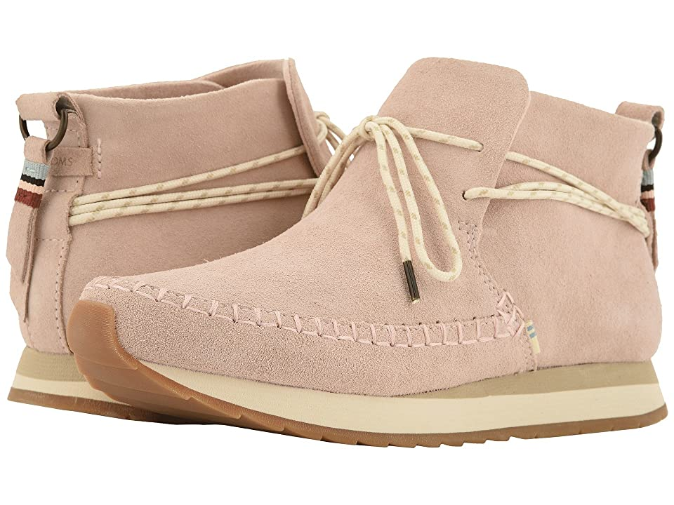 TOMS Rio Water-Resistant Sneaker (Blush Suede) Women's Slip on Shoes, Pink