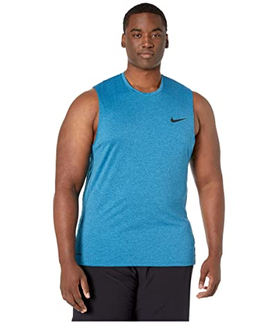 Nike Big Tall Pro Top Sleeveless Slim (Valerian Blue/Laser Blue/Black) Men
