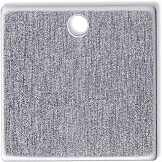 RMP Stamping Blanks, 2 Inch Square with Hole, Aluminum 0.063 Inch (14 Ga.) - 50 Pack
