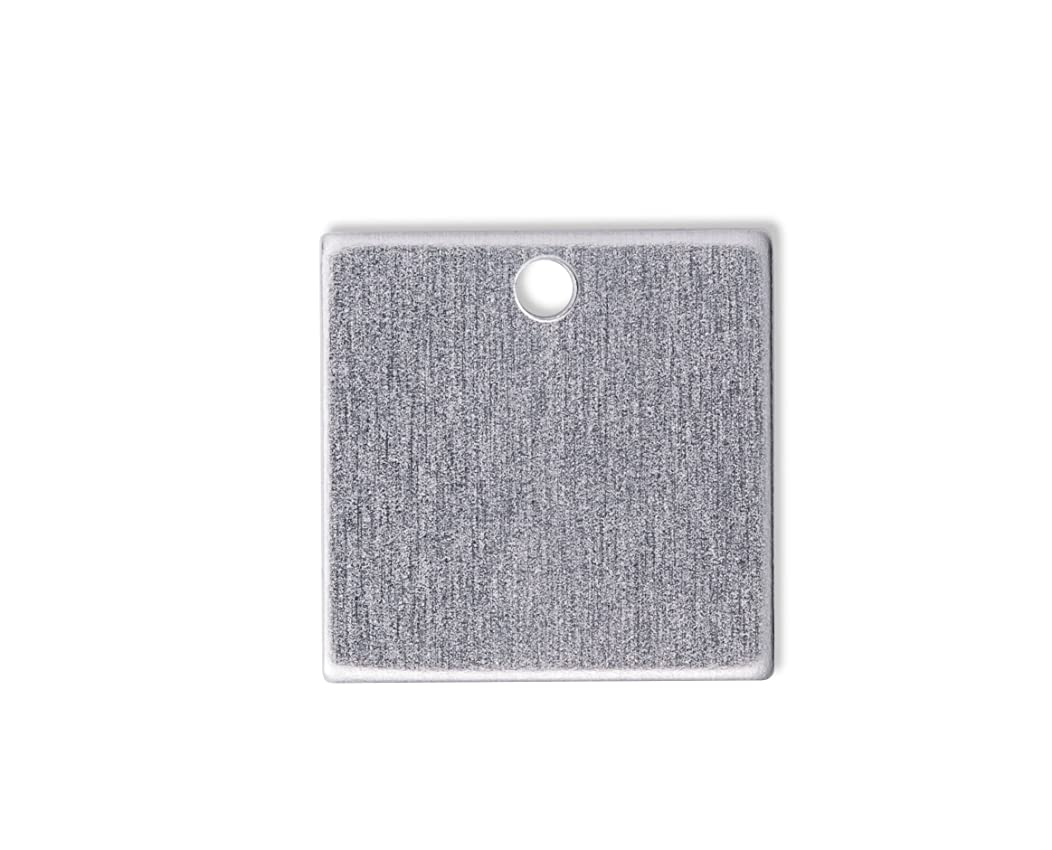 RMP Stamping Blanks, 1 Inch Square Blank With Hole, Aluminum .063 Inch (14 Ga.)- 100 Pack