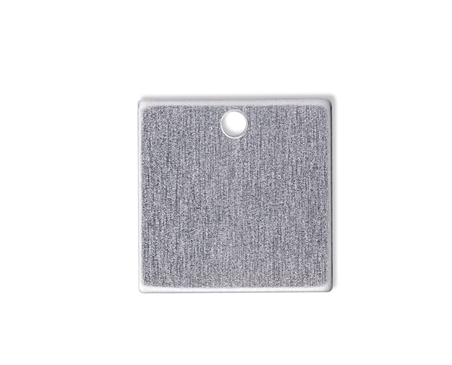 RMP Stamping Blanks, 1 Inch Square With Hole, Aluminum .032