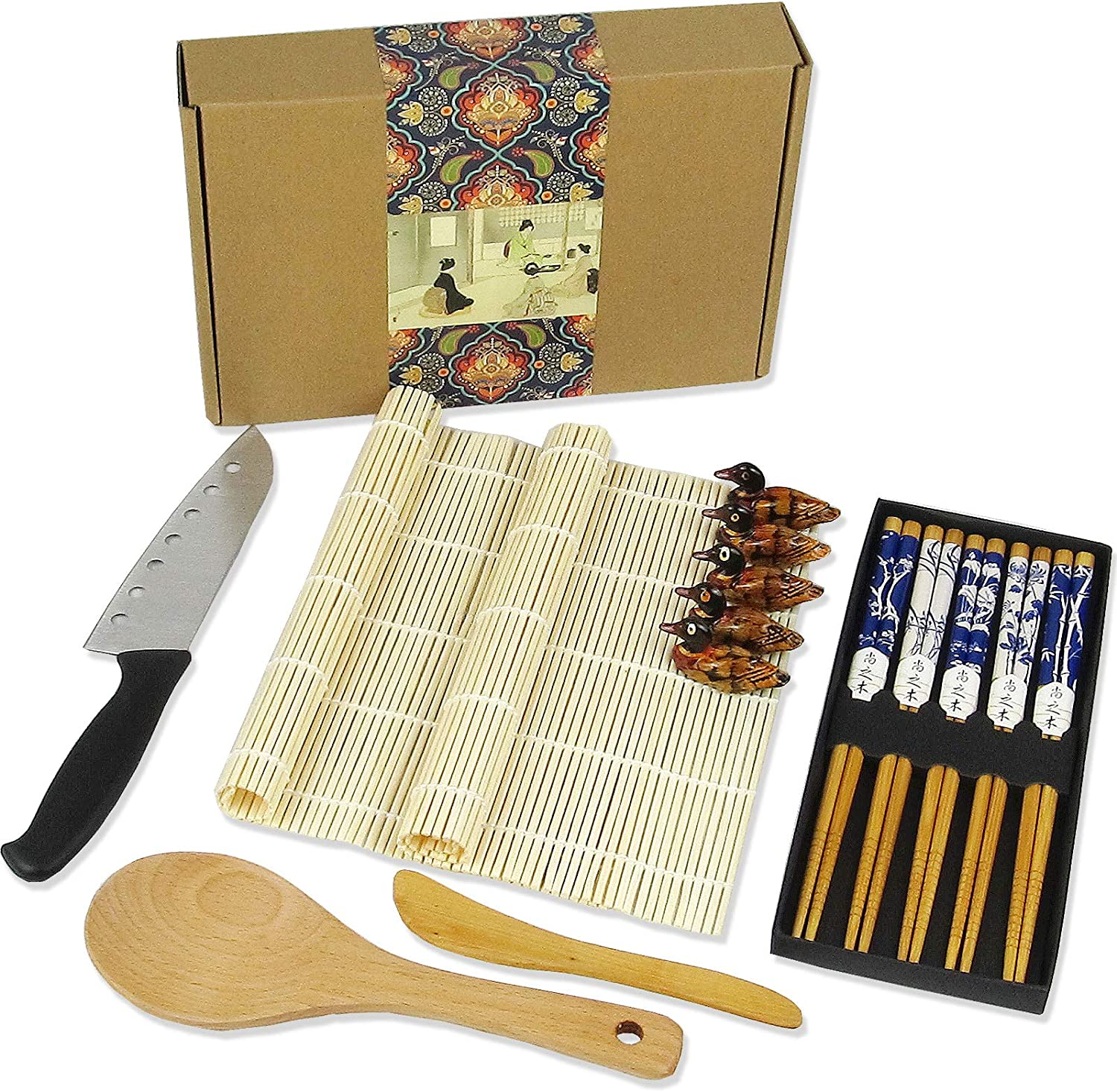 Artcome 15 Pieces Sushi Making Sush Traditional Kit Professional Product National products