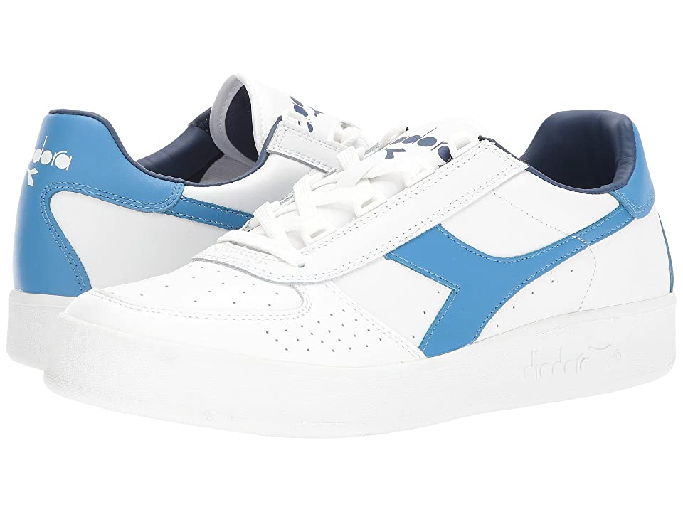 Diadora B. Elite (White/Campanula/Estate Blue) Athletic Shoes