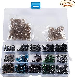 Ojos de Seguridad de Plástico de 150 Piezas Para Muñecas,Oso de Peluche, Peluches, Marionetas, Muñecas