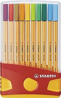 Stabilo Point 88 Fineliner Pens, 0.4 mm - 20-Color Plastic Case Set