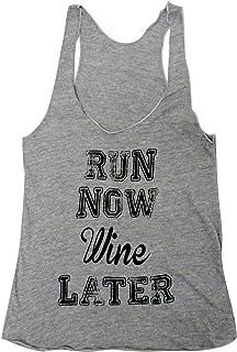 Friendly Oak Women's Run Now Wine Later Fitness Tank top