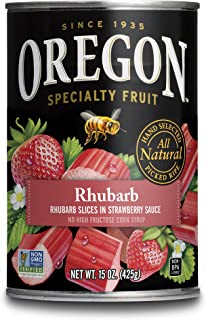 Oregon Fruit Rhubarb in Strawberry Sauce, 15 oz (Pack of 4)