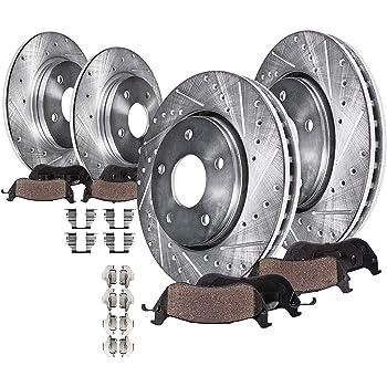Front Drill Slot Brake Rotors /& Ceramic Pads For 11-15 Durango Grand Cherokee