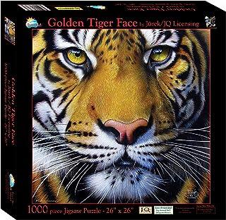Sunsout 58628 Golden Tiger Face 1000pc Jigsaws