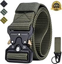 IWIVI 1.5 Inch Tactical Duty Belt Nylon Military Style Belt with Quick-Release Metal Buckle for EDC Molle Equipment