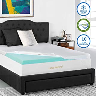Lauraland Memory Foam Mattress Topper Twin Extra Long (Twin XL), 3-Inch Active Cooling Design Bed Topper with Removable Hypoallergenic Cover, CertiPUR-US