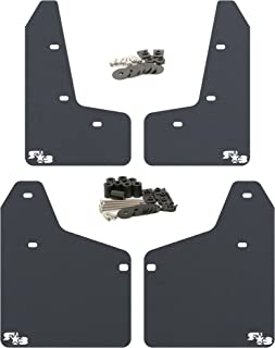 RokBlokz Mud Flaps for 2010-2014 MK6 Volkswagen Golf GTI - Multiple Colors Available - Mud Guards are Custom Cut and Fit - Includes All Mounting Hardware (Black with White Logo, Original)