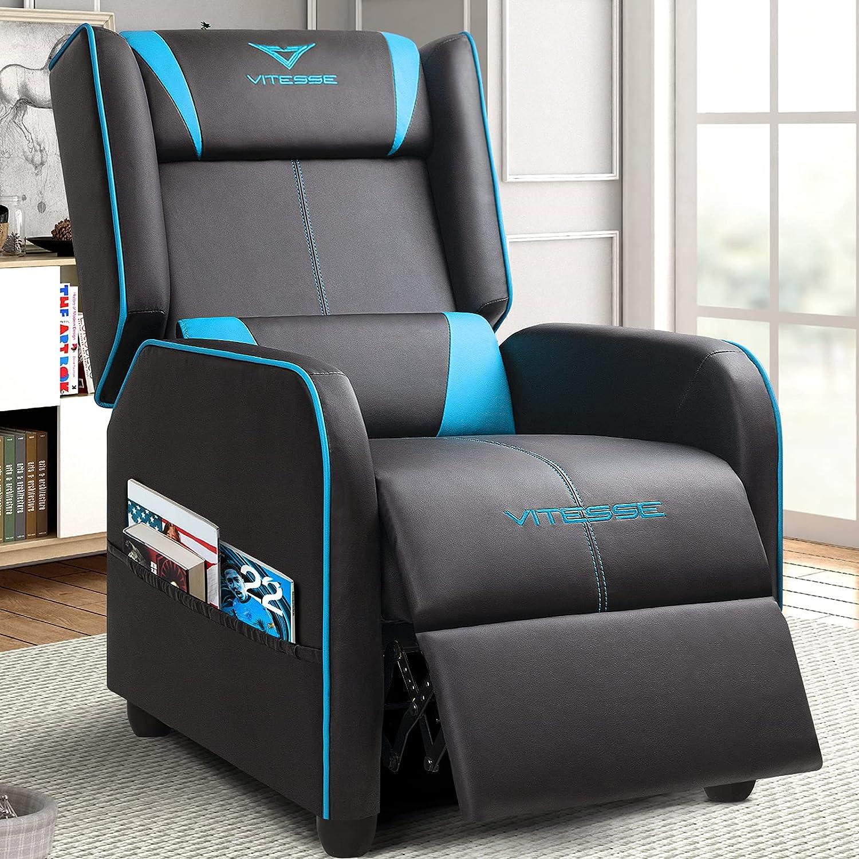 Vitesse Charlotte Mall Gaming Recliner Chair Racing Ergonomic Loun Single Style Max 87% OFF