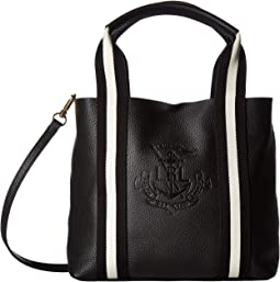 60badb1ef Lauren by ralph lauren tate city tote black black gold | Shipped ...