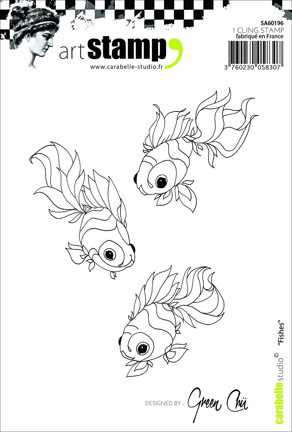 Carabelle Studio Cling Stamp A6-Koi Fish