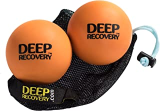 Lacrosse Ball Massage Set for Myofascial Release, Mobility & Physical Therapy - Great Neck & Foot Massage Balls Includes Free Mesh Bag and Tutorial Video