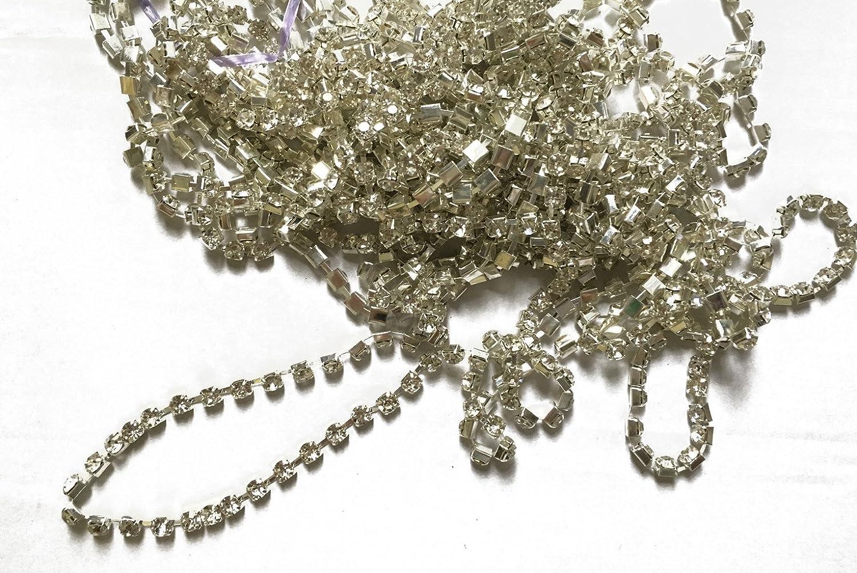 6MM Rhinestone Trims Fashion Single Row Crystal Clear Silver Sale price Claw Metal