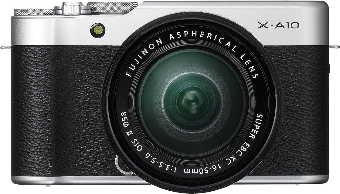 Fujifilm X-A10 - Cámara Evil de 16.3 MP (Pantalla táctil de 3 Obturador electrónico Video Full HD WiFi) Plata - Kit Cuerpo con Objetivo XC 16-50 mm