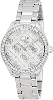 GUESS - GW0001L1 - WATCH FOR LADIES SILVER & CRYSTALS DIAL ENGRAVED WITH G TWIST