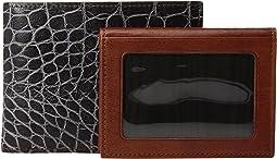 Bosca - Vintage Croco - ID Wallet w/ Passcase