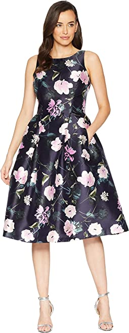 Printed Floral Fit & Flare Party Dress