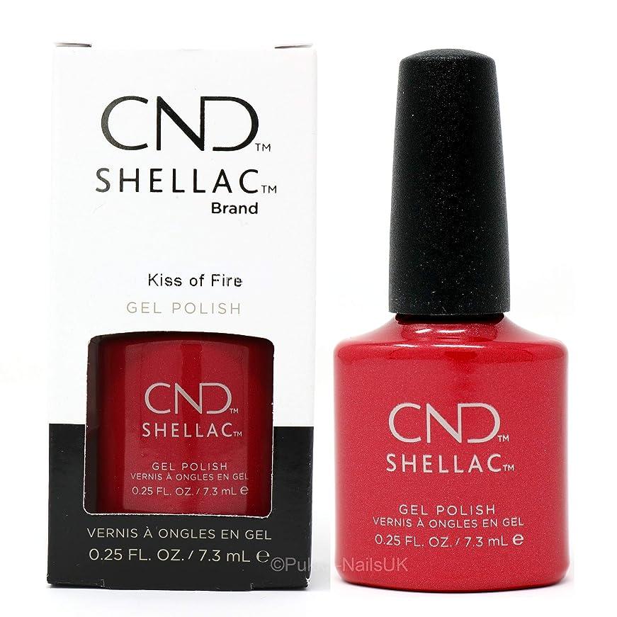 接続詞収束するメインCND Shellac - Night Moves Collection - Kiss of Fire - 0.25 oz / 7.3 oz