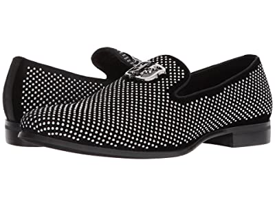 Stacy Adams Swagger Studded Ornament Loafer (Black/Silver) Men