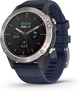 Garmin Quatix 6 Gray Silicone Strap Captain Blue 010-02158-91