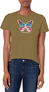 Best Life is Good Womens Crusher Tee Daisy Painted Review