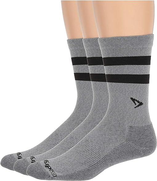 Gray Heathered/Black Stripes
