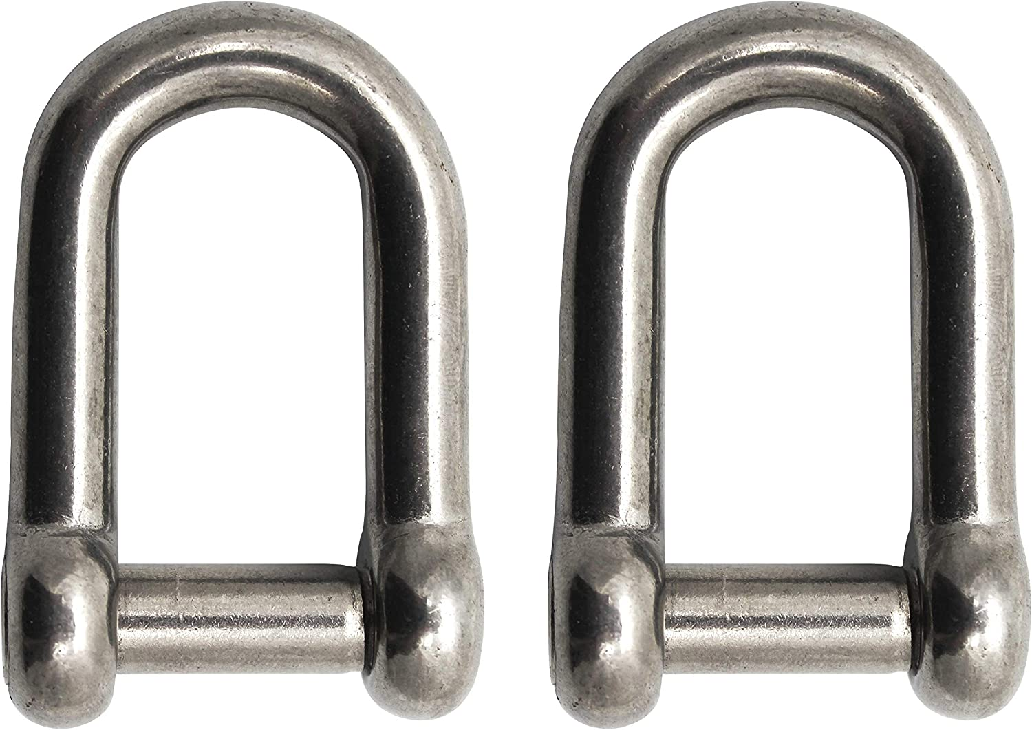 Extreme Max 3006.8378.2 BoatTector Stainless Steel Bolt-Type Anchor Shackle 2-Pack 1//2