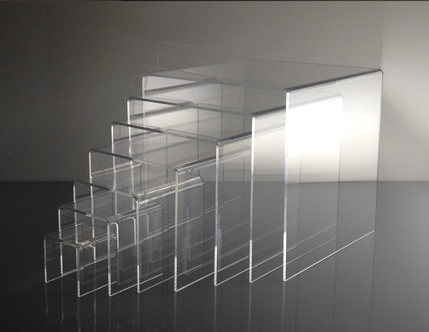 T'z Tagz Brand Gifts Clear Acrylic Nesting Set 7-2in-8i of Riser All stores are sold Table