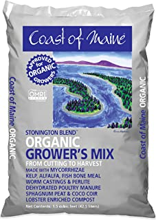 Coast of Maine - Platinum Grower's Mix, Super Soil, Stonington Blend, 1.5cf