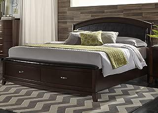 Liberty Furniture INDUSTRIES 505-BR-KSB Avalon Bedroom King Storage Bed, Dark Truffle