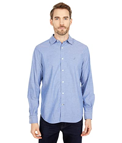 Nautica Classic Fit Polka Dot Shirt (Limoges) Men
