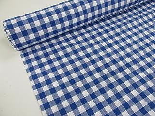Confección Saymi Metraje 1,40 MTS Tejido Vichy Ref. Cuba Cuadro Medio 15x15 mm. Color Azul, con Ancho 2,80 MTS.
