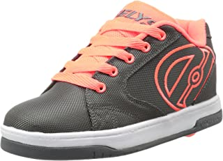Heelys Boys' Propel 2.0 Sneaker, Charcoal/Orange, 6