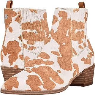 Nine West Women's Applez5 حذاء حتى الكاحل للنساء، متعدد العاج، 6