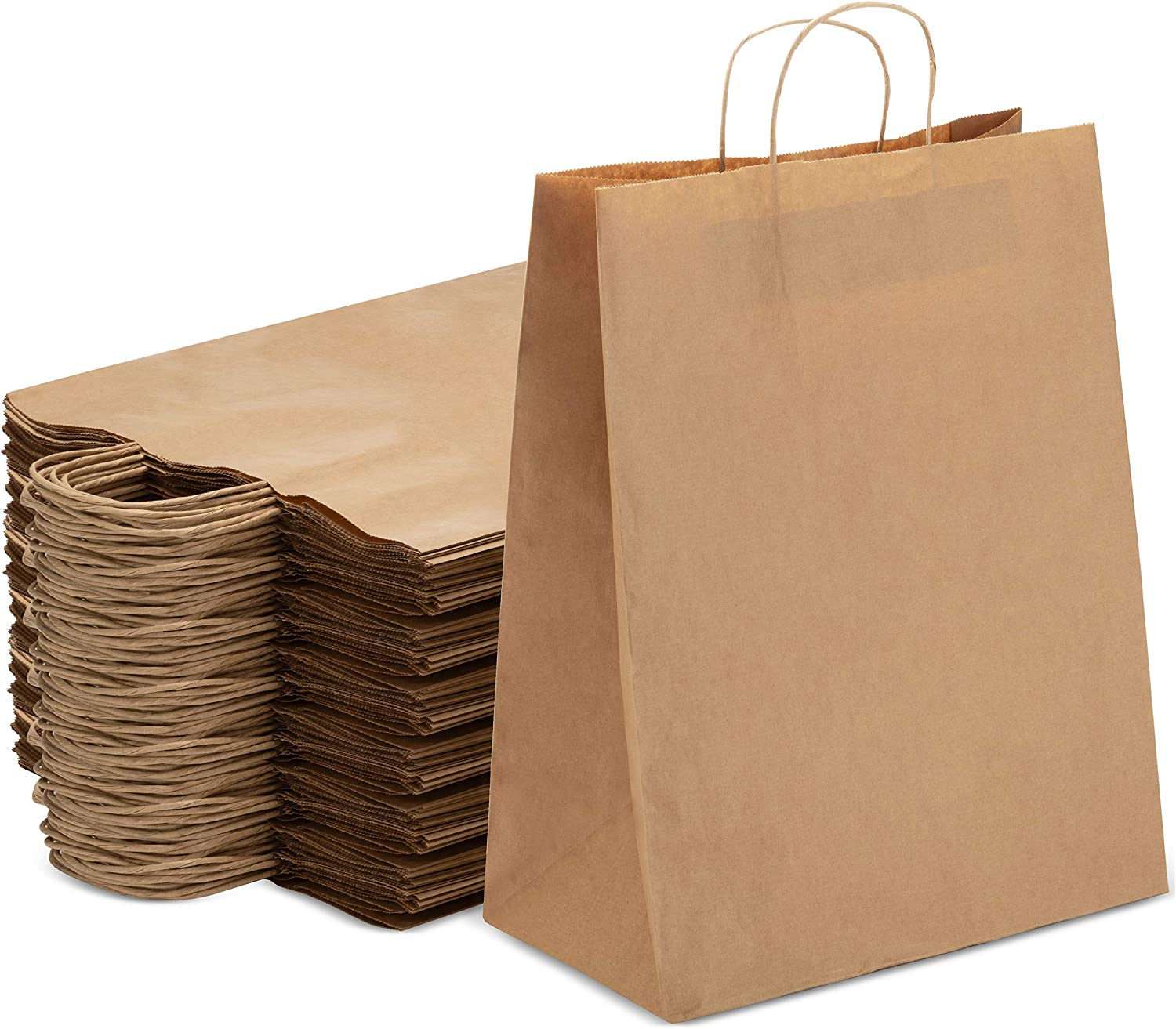 Kraft Brown Bulk Paper Bags Indefinitely with Perfect San Francisco Mall Handles 250 for Pcs