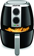 Gourmia GAF375 4.5 Qt Air Fryer | Oil-Free Healthy Cooking | Adjustable Time and Temperature Dials | Removable Dishwasher-Safe Crisper Tray | Free Recipe Book Included