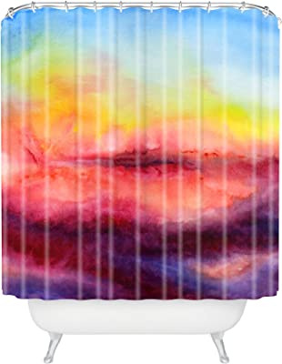 Deny Designs 71 by 74-Inch Jacqueline Maldonado Fire Inside Shower Curtain Standard