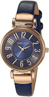 Women's Easy-to-Read Leather Strap Watch, AK/2156