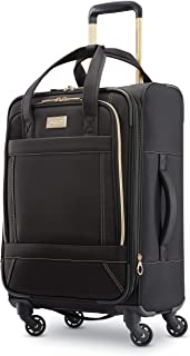 """American Tourister Belle Voyage Softside Luggage with Spinner Wheels, Black, 21"""""""