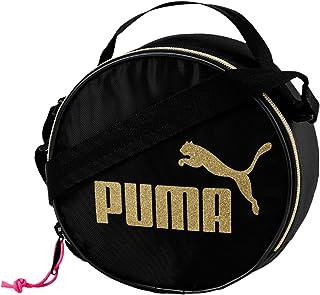 3c1ec34d96 Puma sac à bandoulière pour femme, boîtier rond, logo or CAT, fermeture à